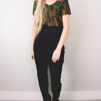 Vintage 70s Abstract Fitted Jumpsuit