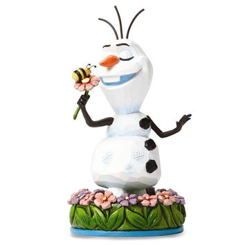 Disney Traditions Jim Shore Olaf With Flower Frozen Figurine