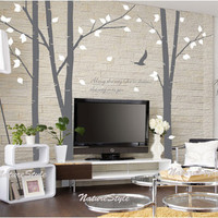 wall decal trees vinyl wall decal wall sticker baby by NatureStyle