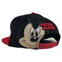 New Era Og Fits Disney Mickey Mouse Rear Jumbo Logo Black Snapback Hat Cap