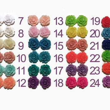 00g 0g 2g 4g 6g 8g 10g 12g 4 PAIR Pick your color 10mm Rose Plugs Perfect for everyday Wedding Bridal Jewelry Bridesmaids Formal Wear