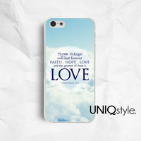 iPhone 4 4S iPhone 5 5S iPhone 5C phone case, Samsung galaxy s3 s4 samsung note2 note3 phone case, faith hope love sky heaven, bible, E39
