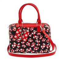 Disney Parks Minnie Mouse Bow Satchel Polka Dot Bows Bag New with Tags