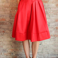 Madeleine Midi Skirt - Red