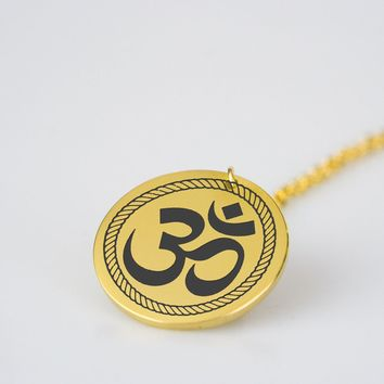 Yoga Om - Stainless Steel Necklace