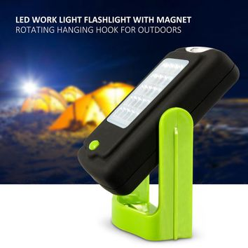 23 LEDs Led Flashlight Outdoor Work Lights Emergency Lantern Lamp Torche Camping Bicycle Lamps With Magnet Hook