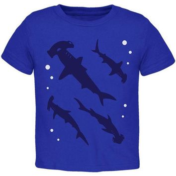 VONEG5F Hammerhead Shark Sharks School Toddler T Shirt