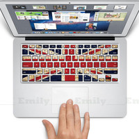 British flag keyboard decal MacBook decal MacBook by ohyeahdecal