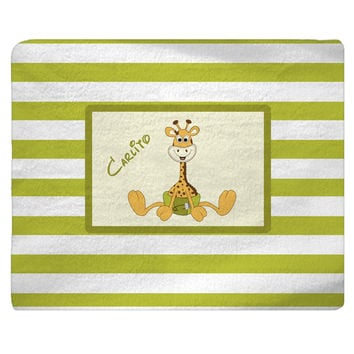 Giraffe Baby Nursery Customized Rug, Carpet Floor Mat, Personalized Home decor, Diaper Pin Stripes Boy Girl
