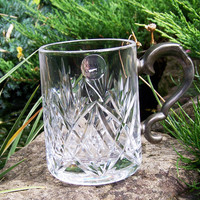 Lead Crystal Hand Cut Tankard 1 Pint, Royale County Crystal Mug, UK Seller