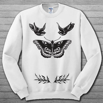 shop harry styles tattoo sweatshirt on wanelo
