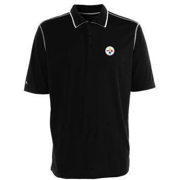 Pittsburgh Steelers NFL Fuel Men's Polo Shirt (Black-White) (Large)