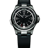 Victorinox Swiss Army Night Vision Black Dial Black Strap Men's Watch