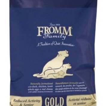 FROMM DOG DRY - GOLD REDUCED ACTIVITY SNR 15LB -  - FROMM PET FOODS - UPC: 72705115433 - DEPT: FROMM PET FOOD