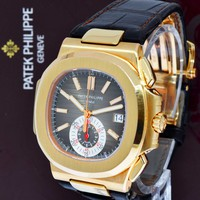** Patek Philippe 5980 Nautilus Chronograph 18k Rose Gold Box/Papers 5980R **
