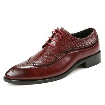 Handmade Leather Breathable Dress Shoes