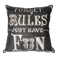 Forget Rules Pillow