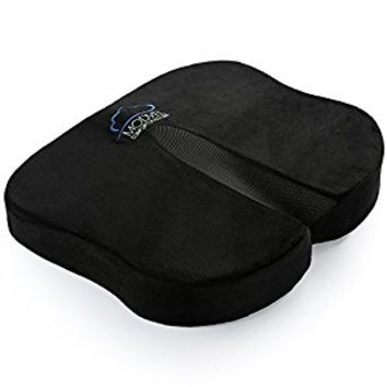 Modvel Seat Cushion For Back Pain, Tailbone, Coccyx & Sciatica Relief - Ventilated Memory Foam For Excellent Support & Comfort - Orthopedic Butterfly Design - Home, Office & Car Use (MV-103)