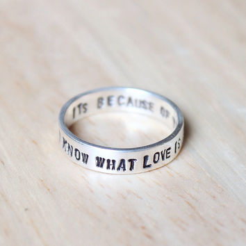 Personalized ring, Personalized silver ring, Custom ring, Custom silver ring, Engraved ring, Quote ring, Stamped ring, Secret message ring