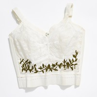Vintage 1960s Embroidered Bralette