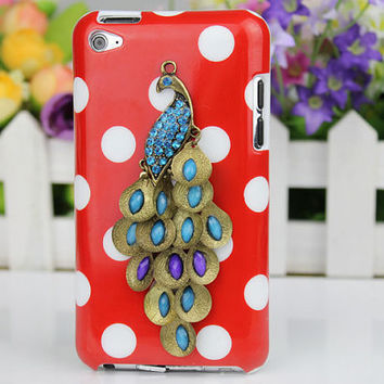 Peacock And Hard Case Cover for Apple Ipod Touch 4, iPod Touch 4th,iTouch 4,iPod Touch 4gen Hard Case Cover