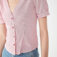 Urban Renewal Remnants Check Button-Down Blouse | Urban Outfitters