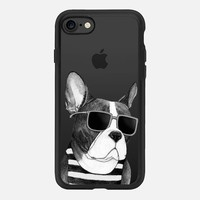 Frenchie Summer Style b&w iPhone 7 Case by Barruf | Casetify