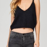 Fuzzy Sweater Crop Top