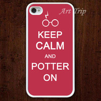 iPhone 4 Case iphone 4s case  Keep Calm and potter on by ArtTrip