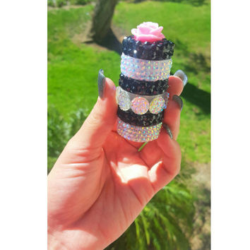 Three Tier Rhinestone Stash Jar
