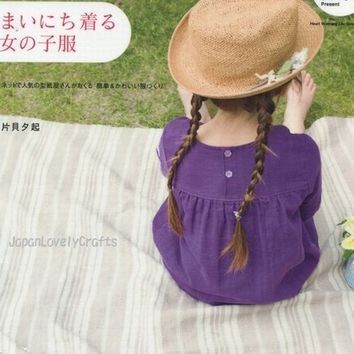 Casual Girls Clothing - Japanese Sewing Pattern Book for Kids - Kawaii & Sweet Easy Dress, Bag Pattern, Tunic, Shirt Dress, One Piece  - B7