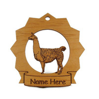 Llama Personalized Ornament by gclasergraphics on Etsy