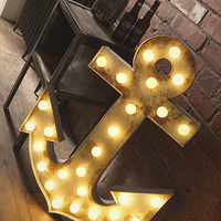 Large Illuminated Anchor Marquee Light