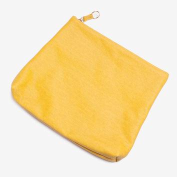 Yellow Large Gusset Pouch