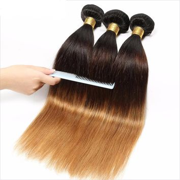 Straight Remy Ombre Human Hair Bundle