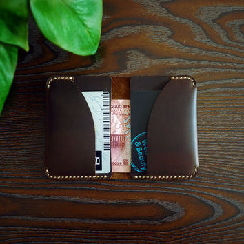 Mens Wallet/Bifold Wallet/Thin Leather Wallet/Peasonalized Wallet/Custom Wallet/Wallet with Initial/Best Gift/CRAZY HORSE Leather Wallet