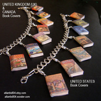Harry Potter Mini Book Charm bracelet  (etsy)-UK or USA version