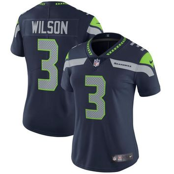 Women's Seattle Seahawks Russell Wilson Nike College Navy Vapor Untouchable Limited Player Jersey