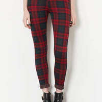 PETITE GREEN CHECK TREGGINGS