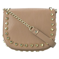Betsey Johnson Heart Attack Crossbody Bag-Tan - Default