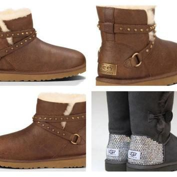 Custom UGG Boots made with Swarovski Emerson Free: Shipping, Repair Kit, Cleaning Kit,