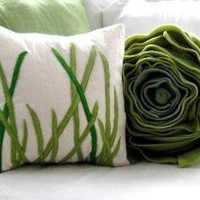 tall grass pillow square cover for 16x16 by pillowhappy on Etsy