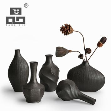 TANGPIN european modern fashion mini ceramic flower vase for homes,decorative vases,vases for wedding decoration tabletop vase