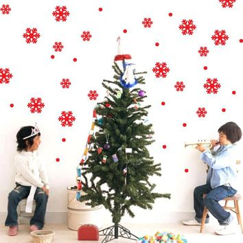 Window Stickers Angel Snowflake Christmas Xmas Vinyl Art Decoration Decals Removable Christmas Tree DIY Home Event Decorations #