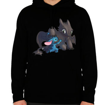 toothless hoodie how to train your dragon stitch sweatshirt men's women's black cotton viscose christmas