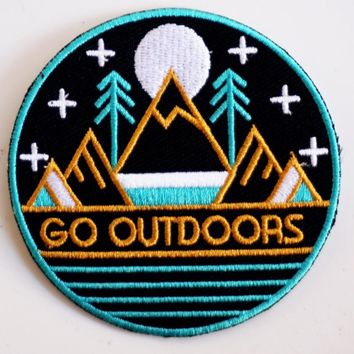 """""""Go Outdoors"""" Patch"""