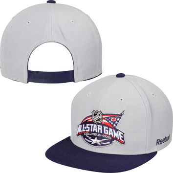 2015 NHL All Star Game Reebok Two-Tone Snapback Hat - Gray/Navy Blue