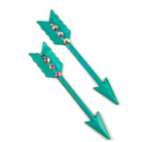 Follow Your Arrow (teal) Earrings-Sookie Sookie