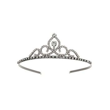 Gunmetal Rhinestone Tiara - Jewelry - Accessories