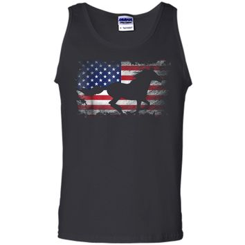 Horse American Flag USA Patriotic Horse Gift Tank Top